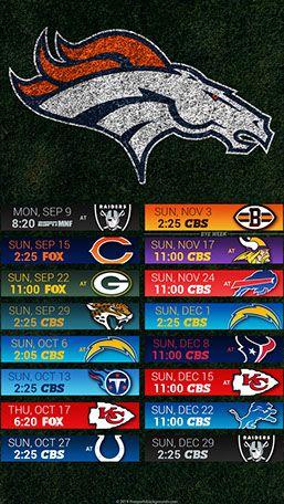 Denver Broncos 2019 Mobile Field NFL Schedule Wallpaper