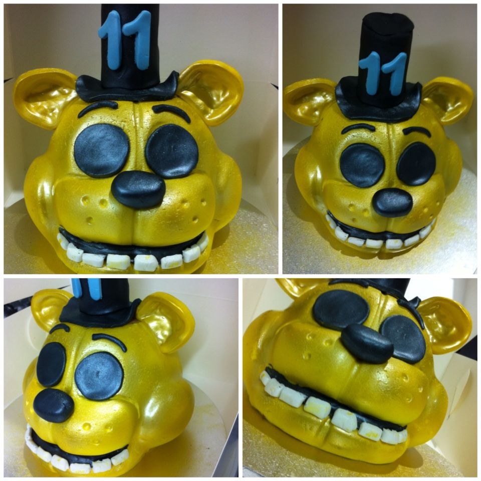 5 Nights At Freddy's Chocolate Cake Golden Freddy