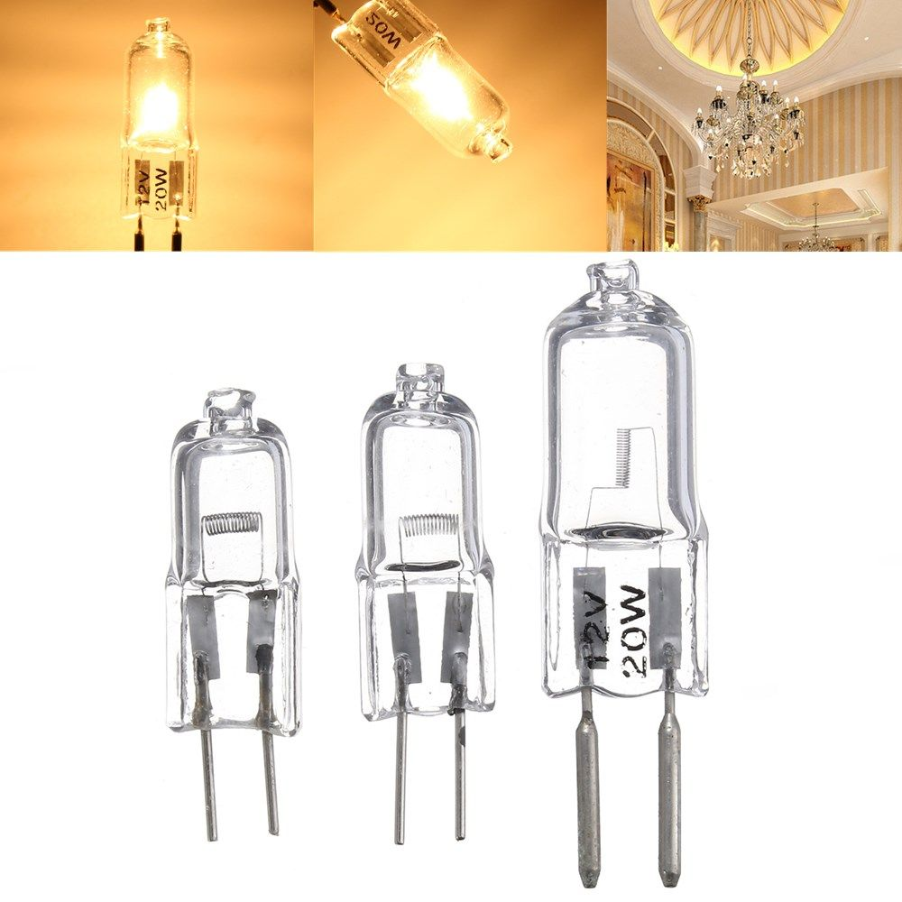 G5 3 20w 35w 50w Bi Pin Light Bulb Halogen Lamp Warm White 12v Led Light Bulbs From Lights Lighting On Banggood Com Halogen Lamp Led Light Bulbs Bulb