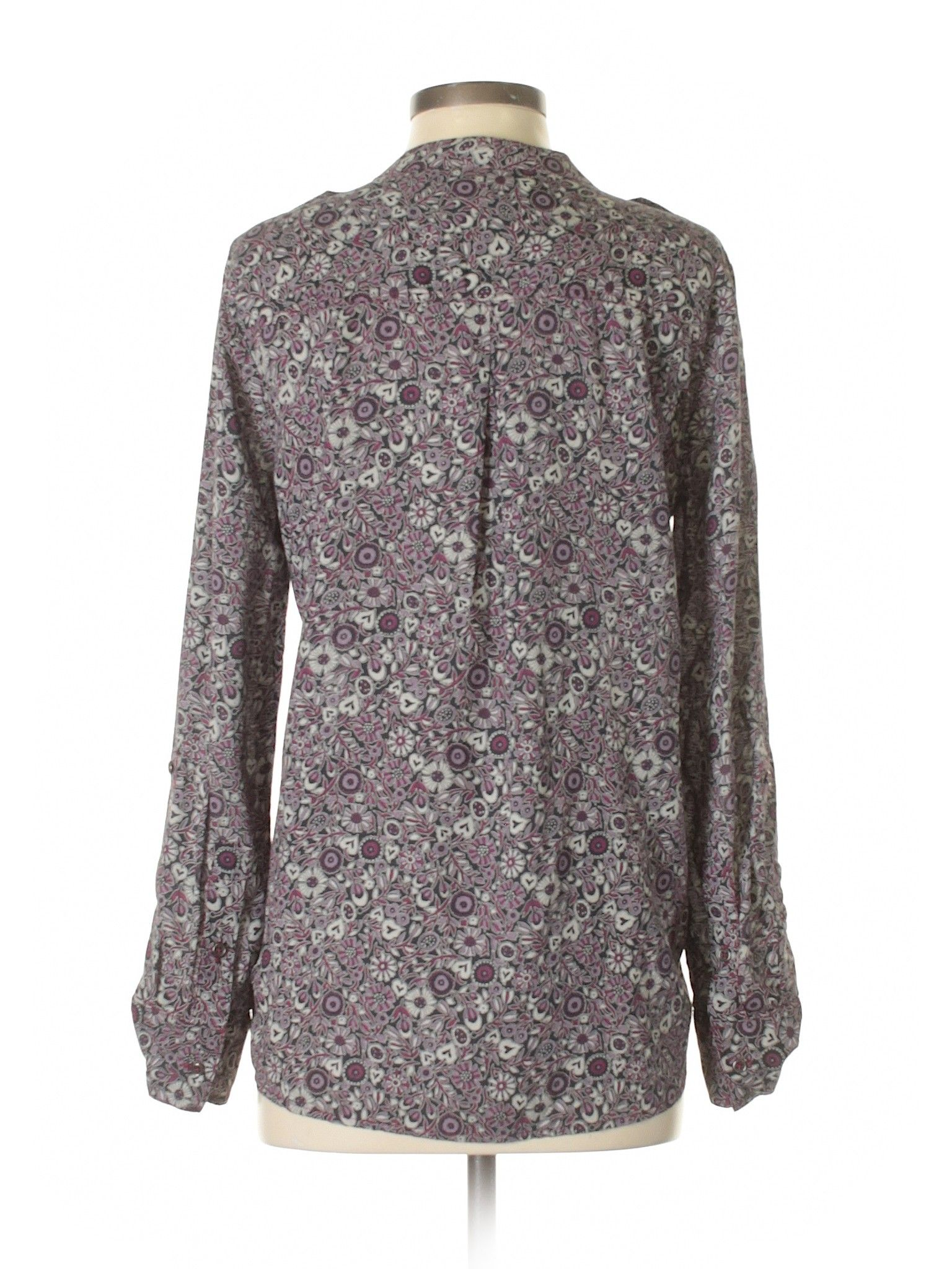 3384cd07dfb4 William Rast Long Sleeve Blouse: Size 4.00 Purple Women's Tops - New With  Tags - $12.99