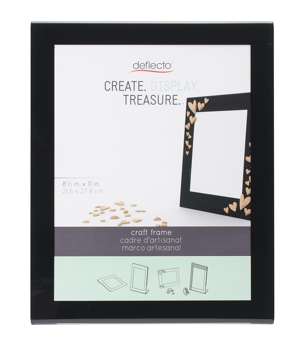 Deflecto 8.5''x11'' Craft Frame-Black
