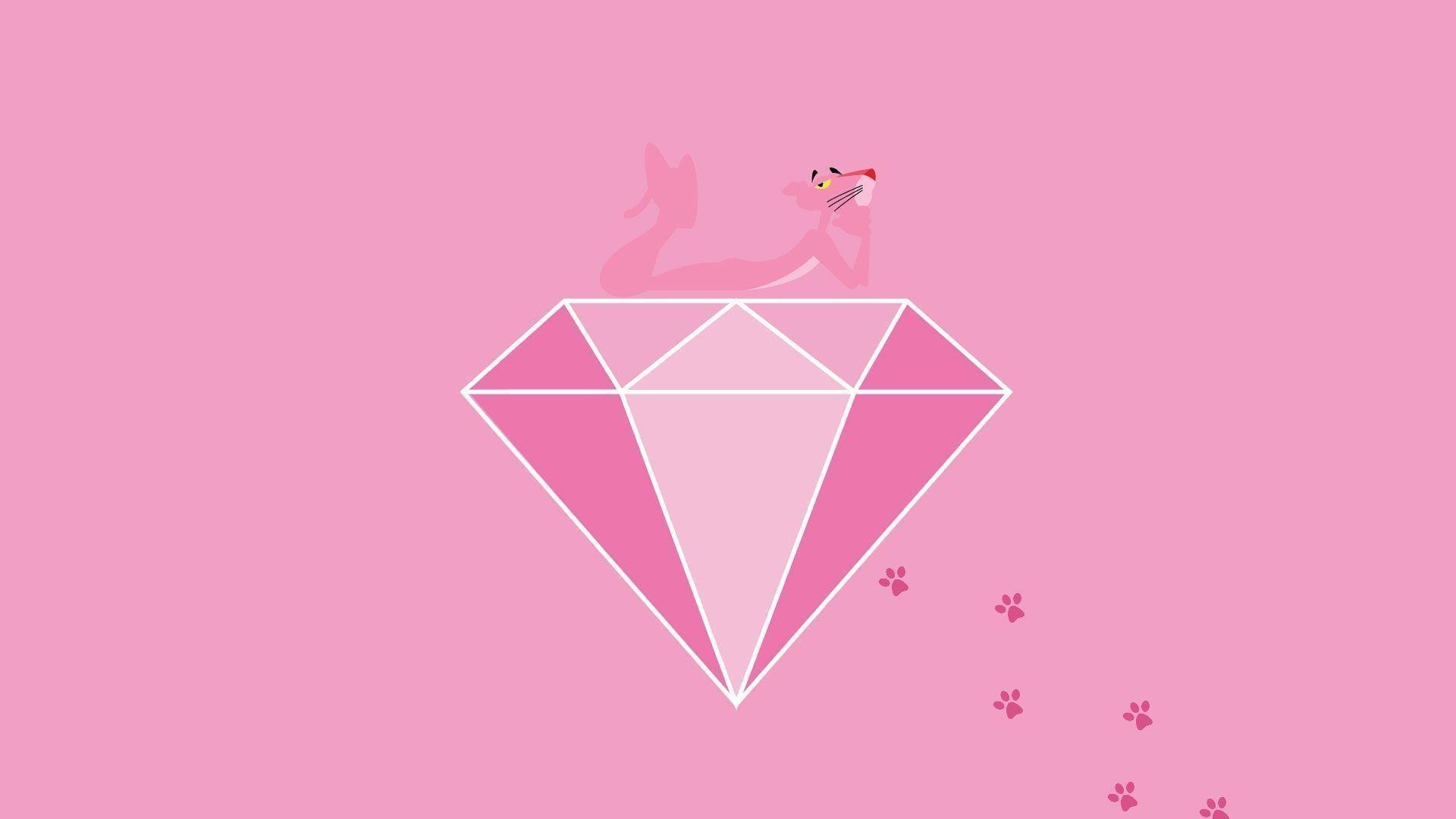 Pink Panther Background Tim Với Google Pink Panter Pink Panthers Hello Kitty Wallpaper