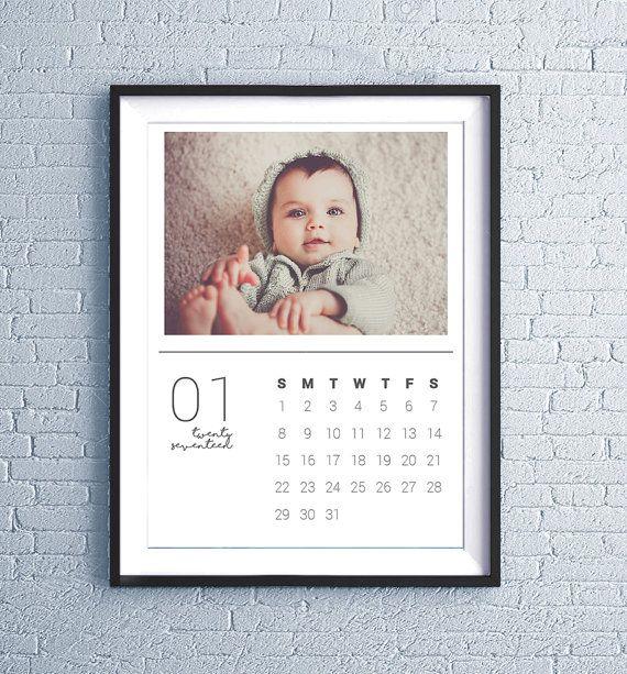 Custom Printable Personalized Calendar 2018, Photo Calendar, Wall