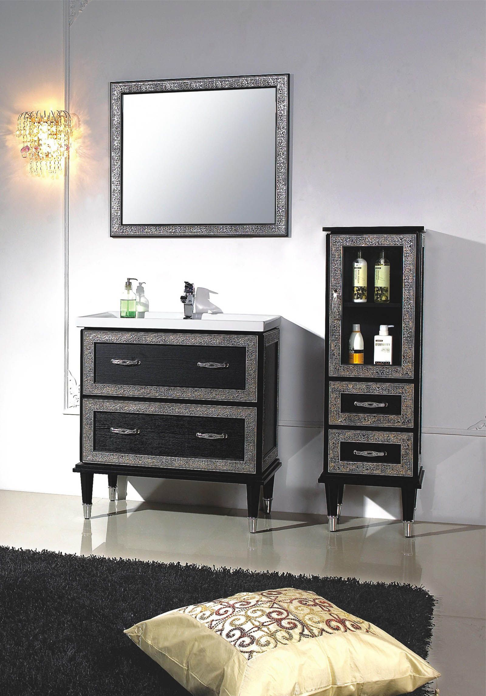 Modern Bathroom Vanity Set Tavarone II Powder Room