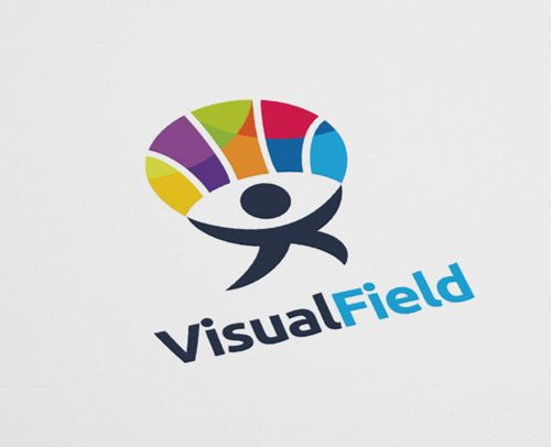 Visualfield | Eye logo design logo maker | Logos, Eye logo