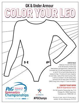 Color Your Leo Contest Begins Today Gymnastics Camp Gymnastics Lessons Gymnastics Workout