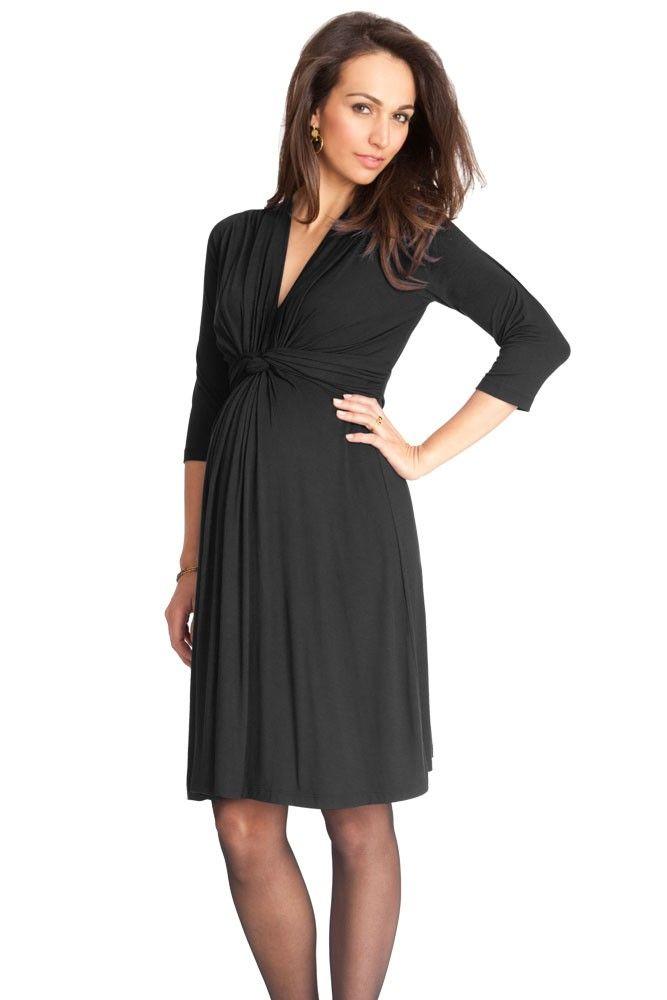 89210ad9ba339 Seraphine Jolene 3/4 Sleeve Maternity Dress (Black) | Baby BOOBA ...