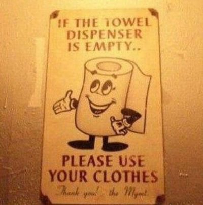 Bathroom Signs Joke funny bathroom signs | funny bathroom sign towel clothes | funny