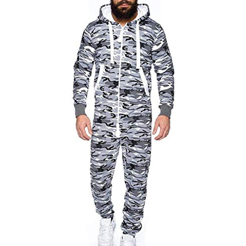 nouveau produit f83b7 f61e4 Success Homme Pyjamas Combinaison à CapucheLong Combinaison ...
