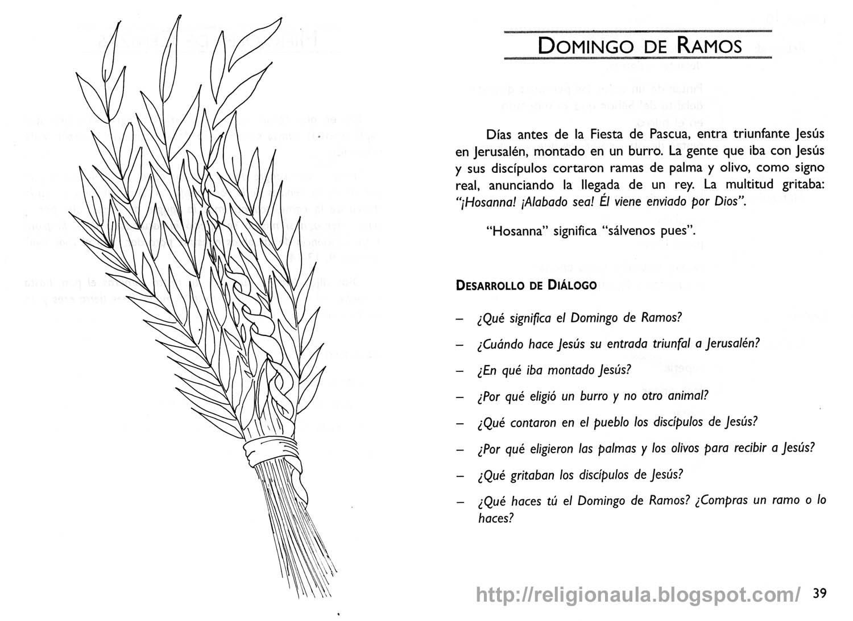 Catequesis Primera Unia N El Credo Para Colorear Espagnol: RECURSOS PARA CATEQUESIS: Domingo De Ramos