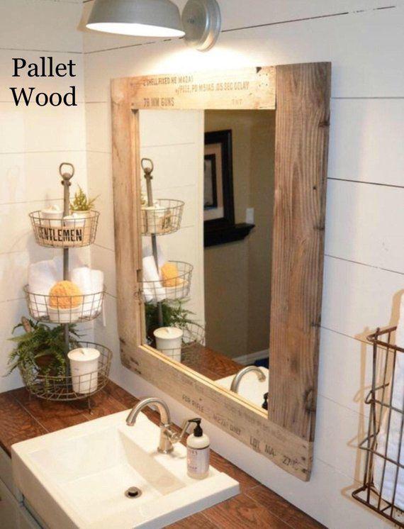 Vanity Mirror Bathroom Mirror Rustic Farmhouse Style Mirror