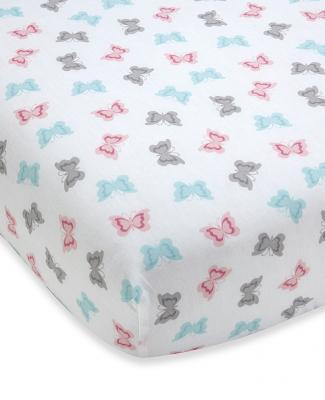 Wendy Bellissimo™ Pink Butterflies Crib Sheet