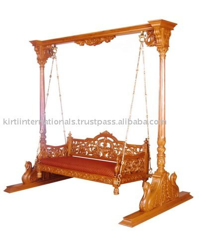hanging chair lahore replacement slings wooden carving swing outdoors swings indian furniture