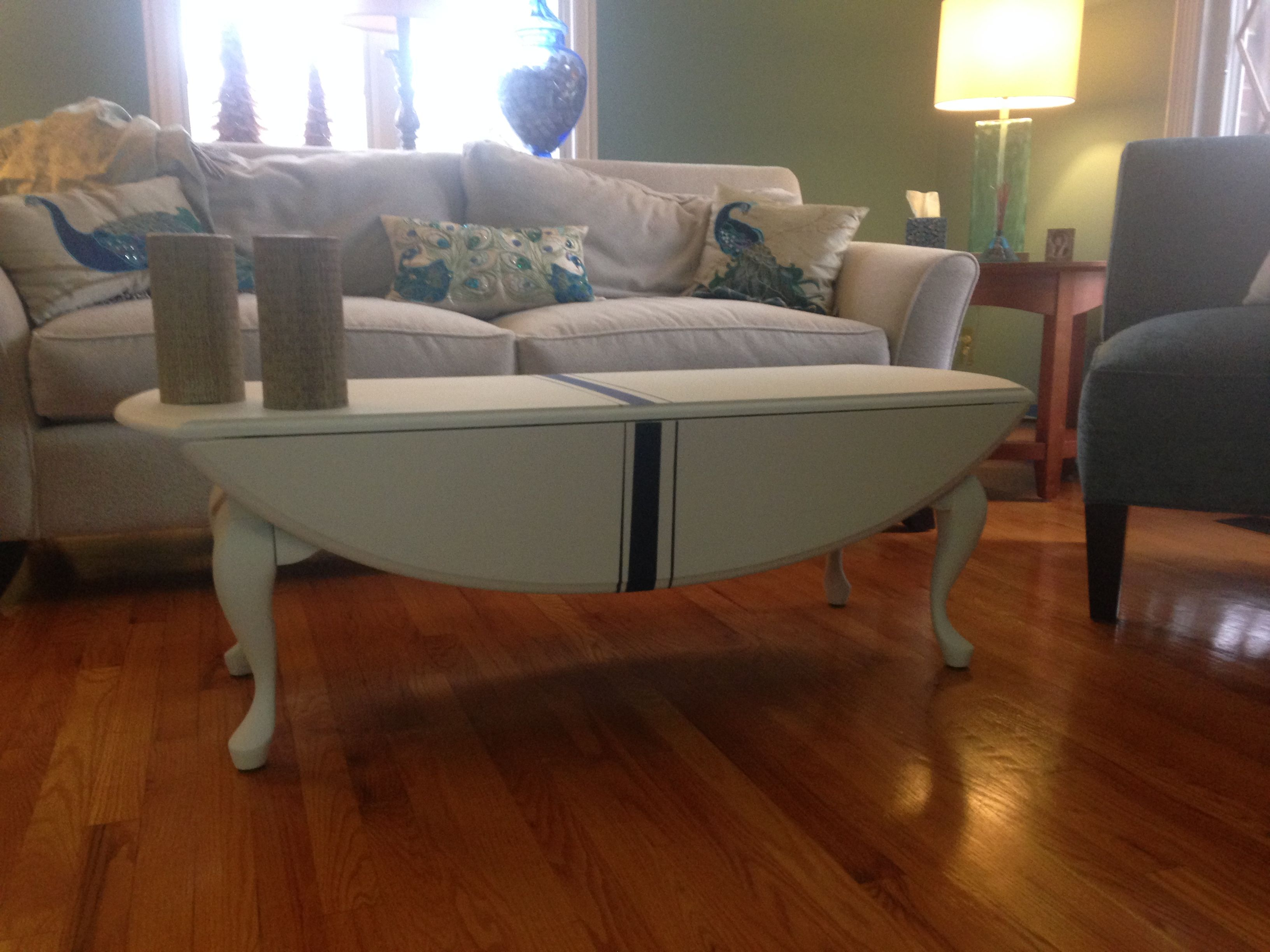 Great drop leaf coffee table upgrade Painted with Country Chic