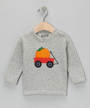 Take a look at this Gray Pumpkin Wagon Tee - Infant & Toddler by Petit Confection on #zulily today!