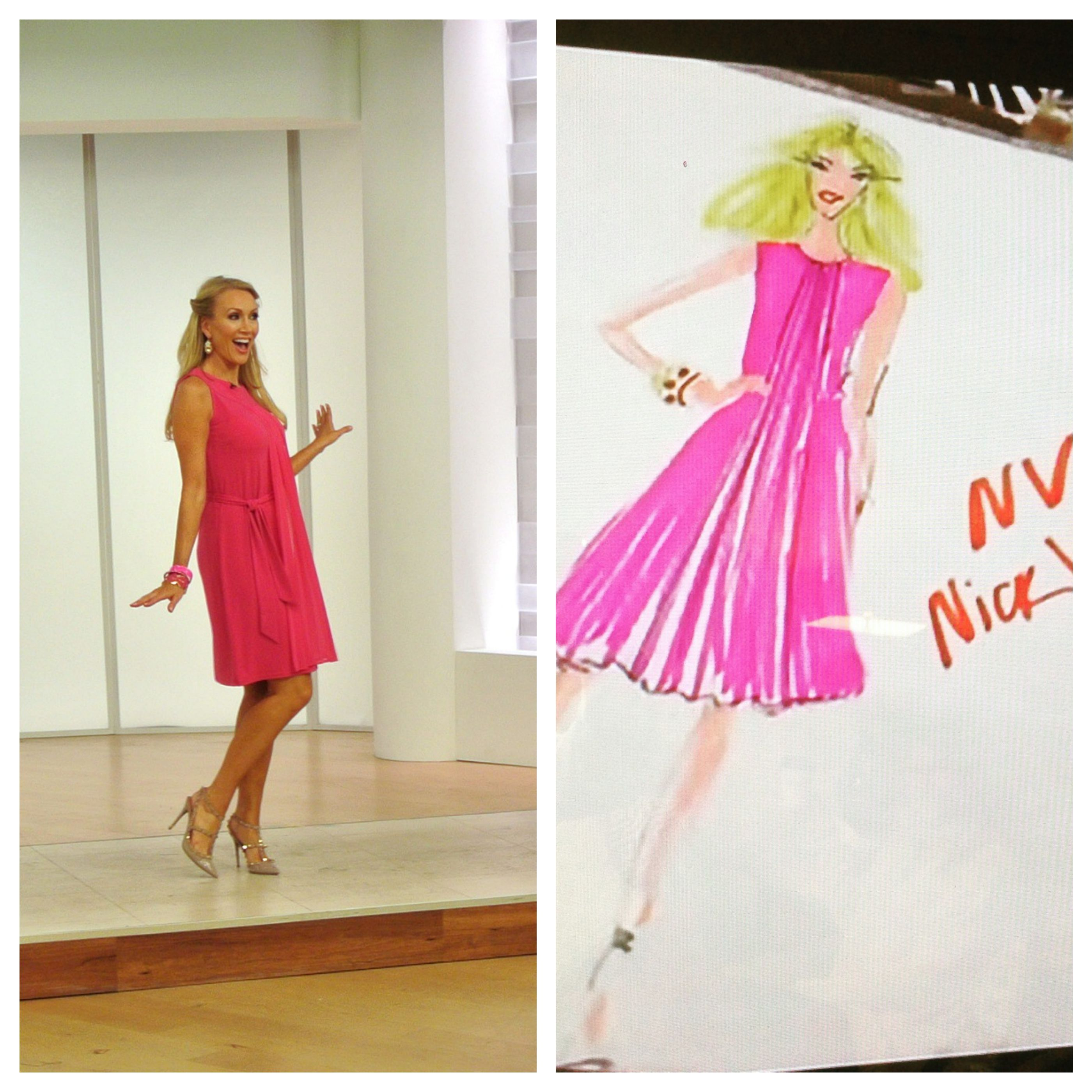 EVINE Live TV Shopping Network host Wendi Russo wearing NV by NICK