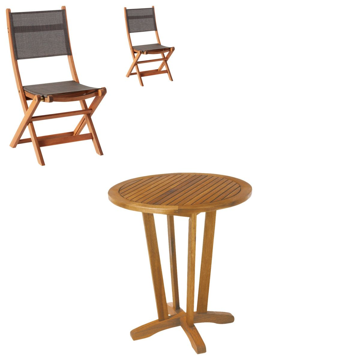 Gartenmöbel-Set Safari/Da Nang (1 Tisch, 2 Klappstühle) Jetzt ...