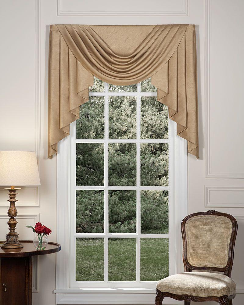 Silkara Swags Jabots Living Room Drapes Classic Window Curtains