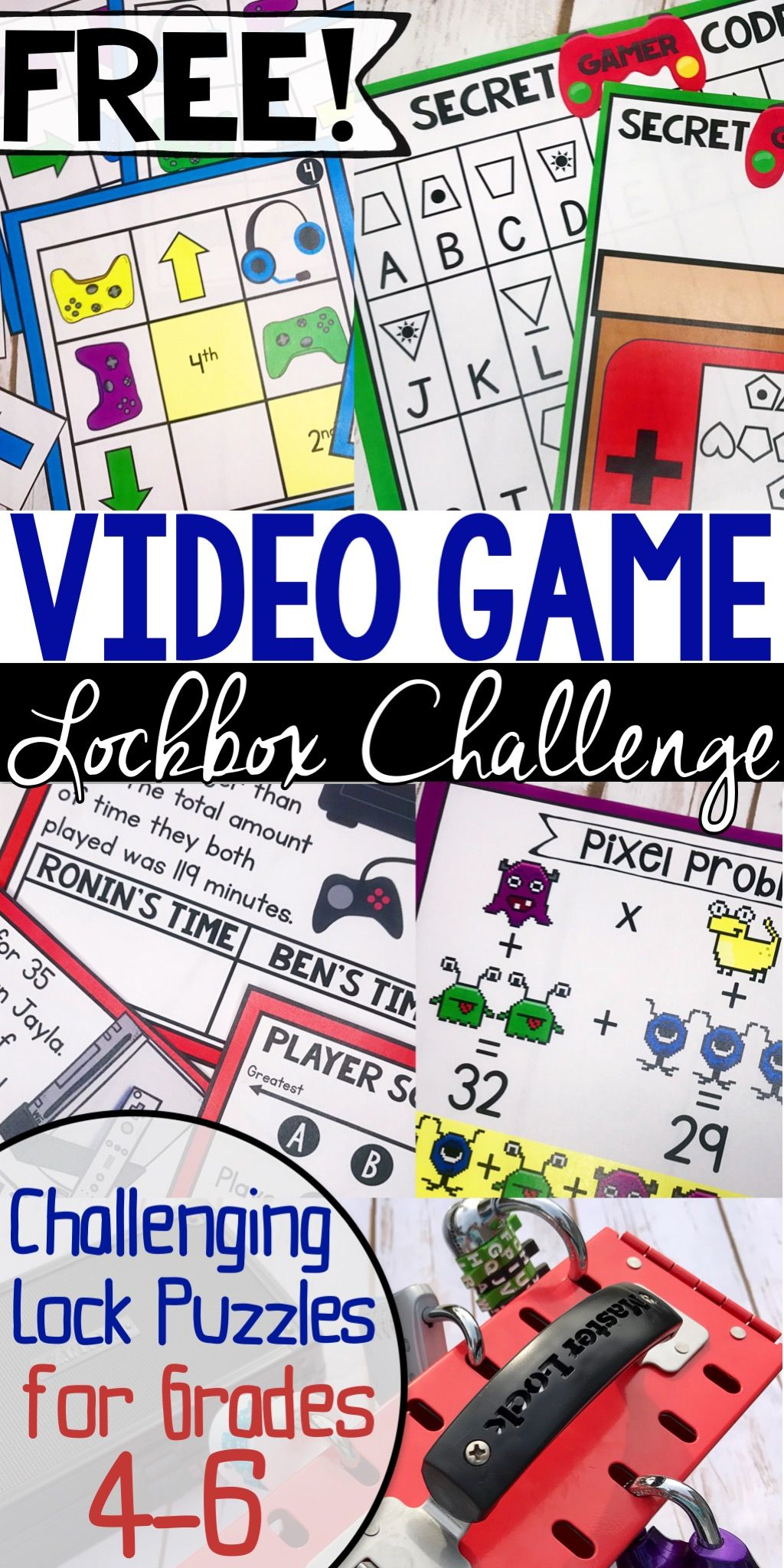 FREE Lockbox Challenge for upper elementary students