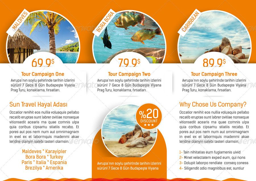 Tri Fold Brochure Template Travel Agency  Trifold Tours Travel