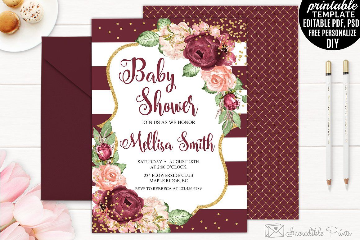 Bohemian Baby Shower Invitation by Incredible Prints on ...