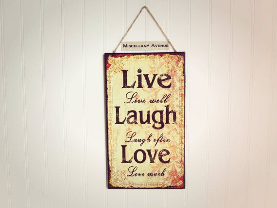 Live Love Laugh Wall Decor / Love Decor / Live di MiscellanyAvenue ...