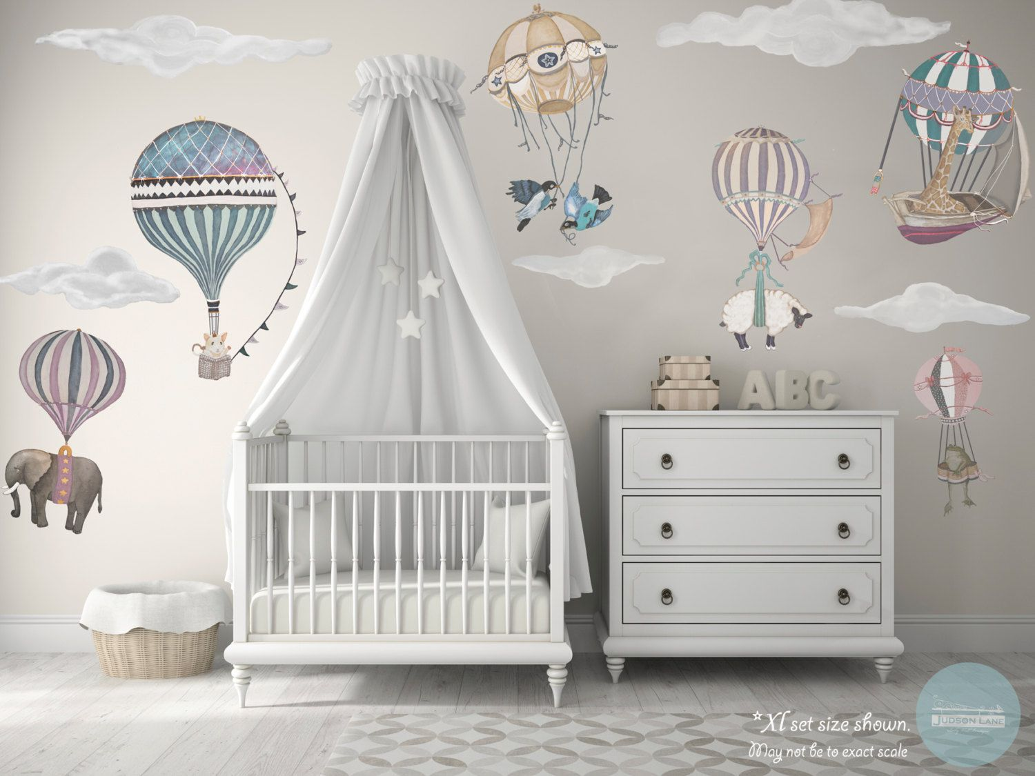 Image result for baby girl nurseries hot air balloon Hot