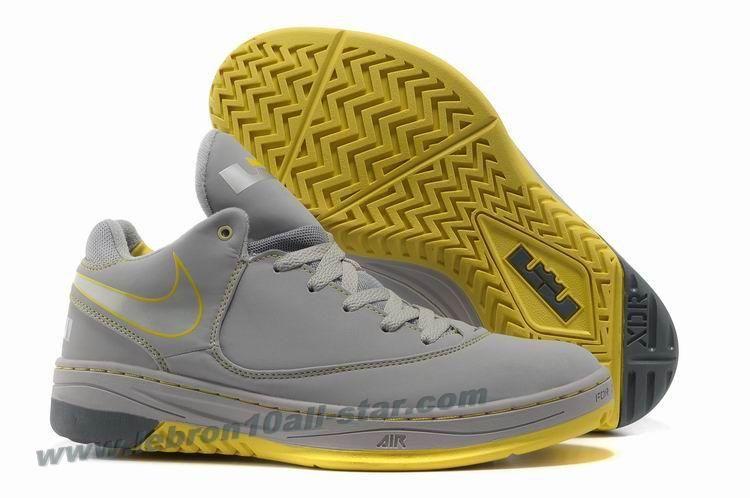 Nike Air LeBron E.E. 2013 Basketball Shoes Grey Yellow