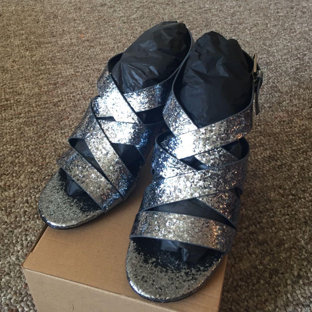 Zara Tiras Glitter Sandals