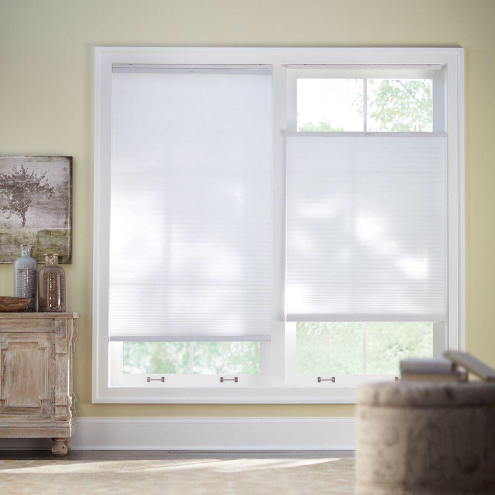 Home Decorators Collection Snow Drift 9 16 In Top Down Bottom Up Cordless Cellular Shade Cordless Cellular Shades Cellular Shades Home Decorators Collection