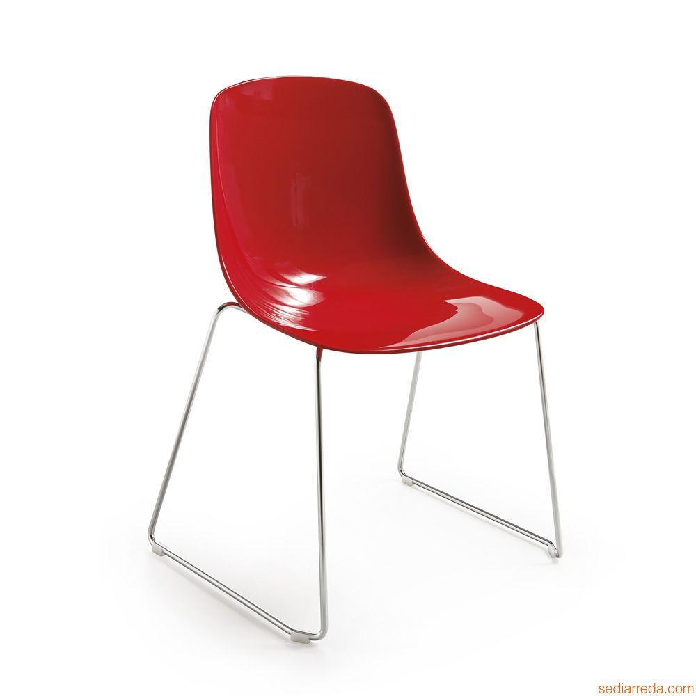 Pure Loop S | Stapelstuhl aus Metall mit Sitz aus Polycarbonat in ...