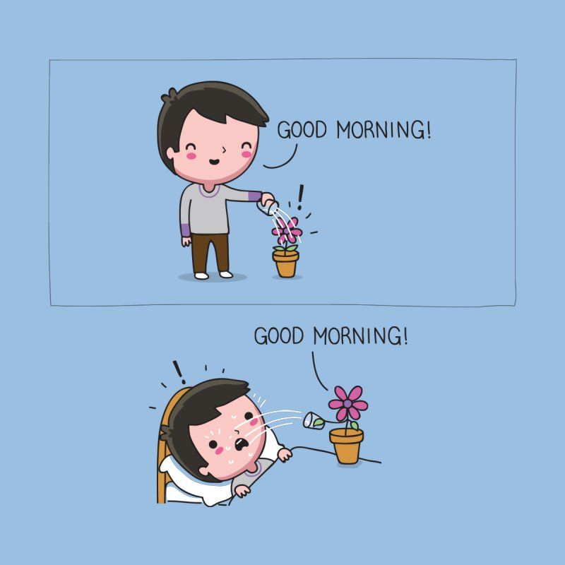 Good Morning In 2021 Funny Illustration Funny Doodles Cute Puns