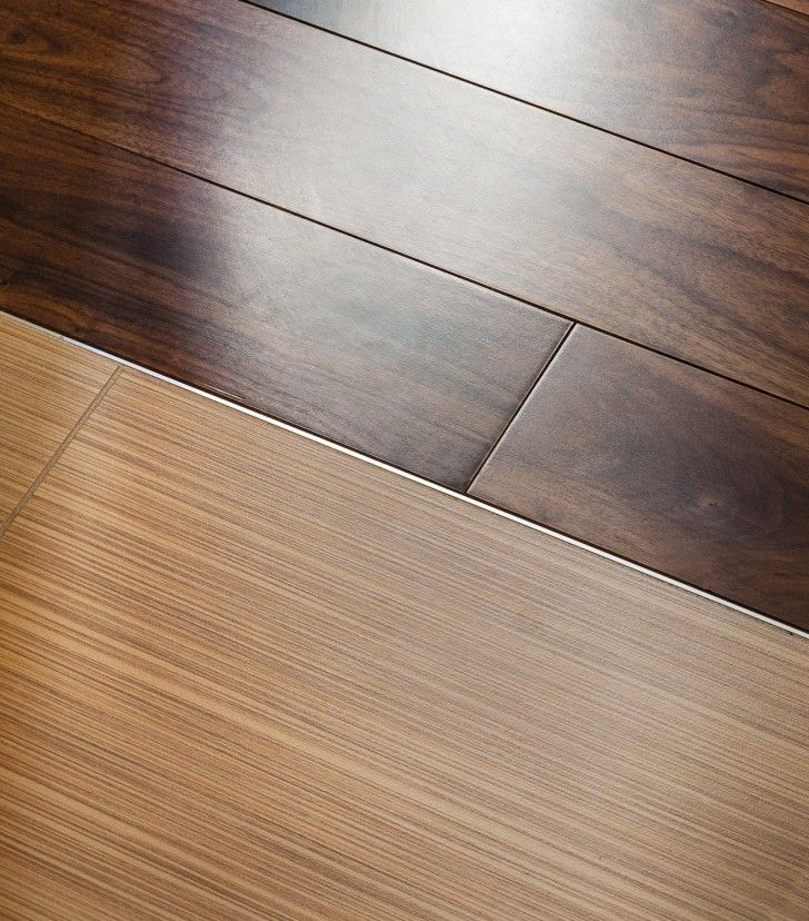 Interior: Clear Lines Wood Floor To Darker Wood Planks Floor Tile to Wood  Floor Transition Ideas method of transitional flooring two combined-floor  types ... - Interior, Clear Lines Wood Floor To Darker Wood Planks Floor