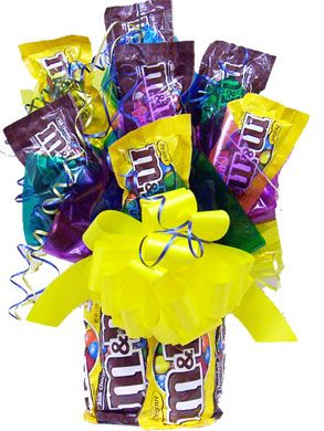 M&Ms candy bouquet | just for fun | Pinterest | Candy bouquet ...