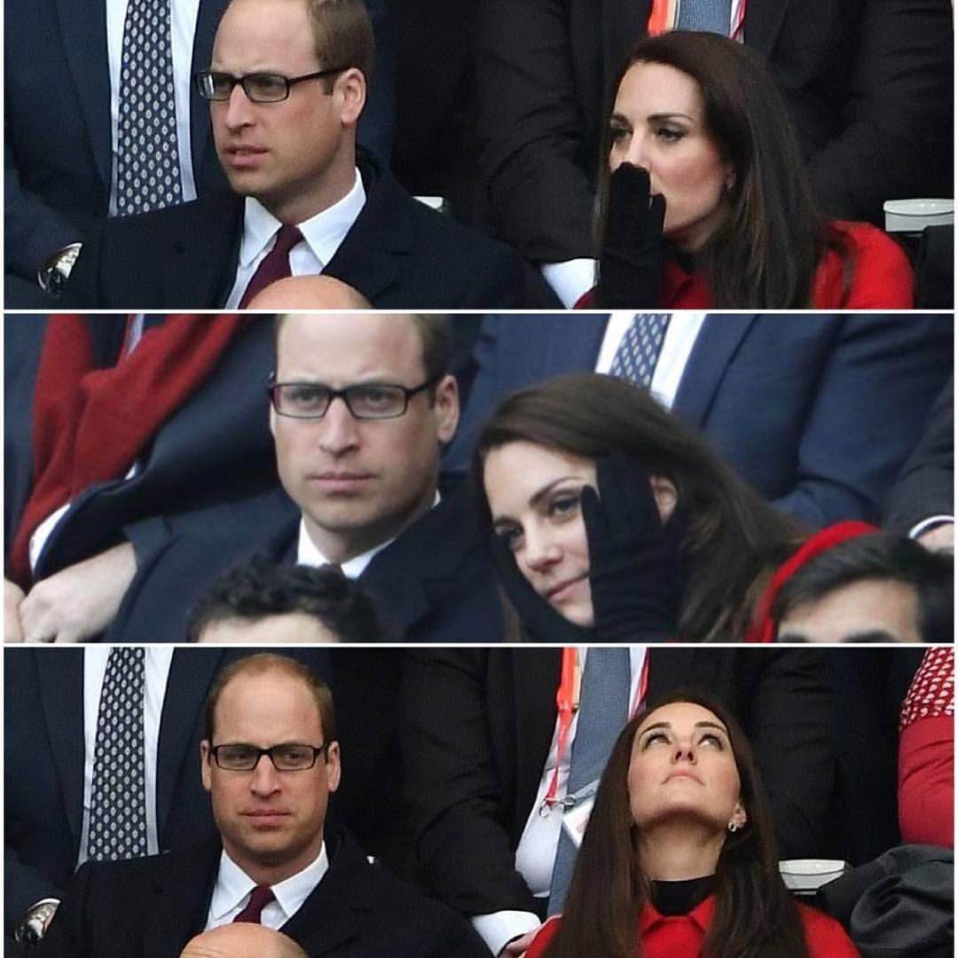 """597 Likes, 4 Comments - X-u-i-n (@xuin10) on Instagram: """"William and Kate emotions during the Wales v France Rugby march, 18 march 2017…"""""""