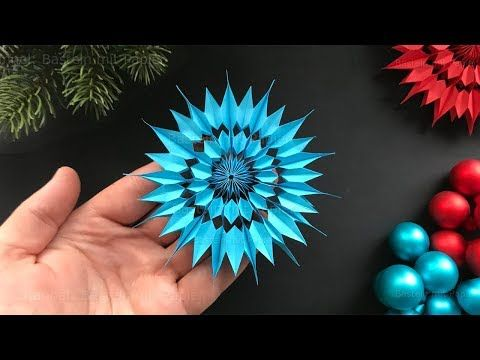 Paper Stars for christmas - Easy DIY Christmas Decoration Ideas - Paper Snowflakes