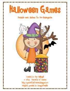 Halloween Printable Math & Literacy Games Pack $8.00