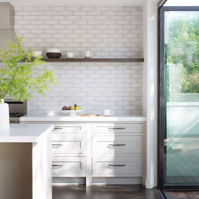 were all about this kitchen that features our glazed thin brick in snow