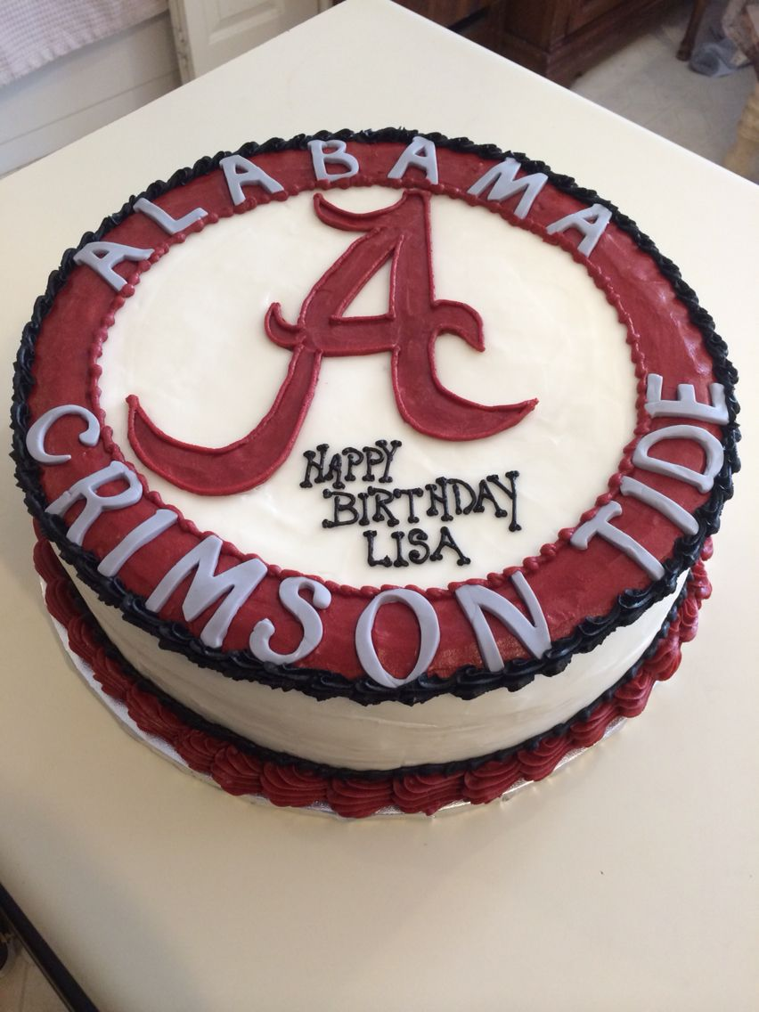 Surprising Alabama Crimson Tide Cake With Images Alabama Birthday Cakes Funny Birthday Cards Online Overcheapnameinfo
