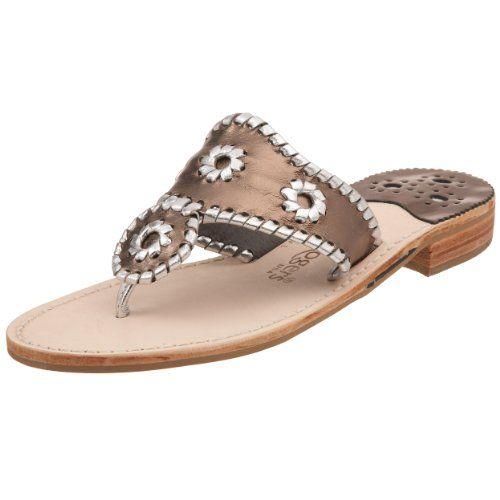 aabff9b88d335a Jack Rogers Women s Hamptons Sandal Pewter Silver