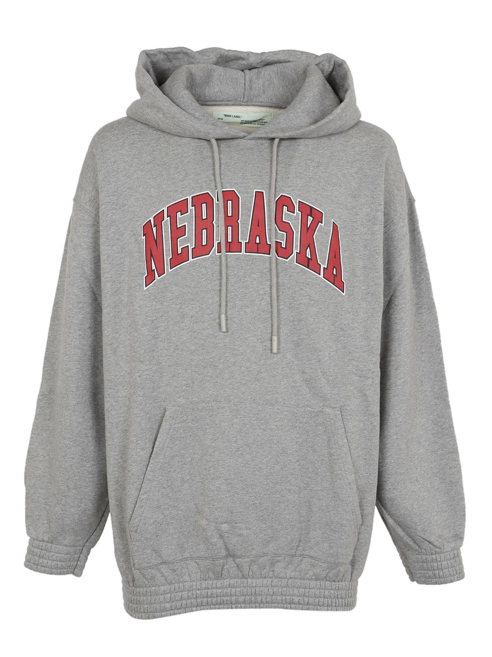 Off White Nebraska Printed Hoodie Cloth Hoodieku Sweater Striped Crewneck Maroon Unisex L Clothes In 2018 Pinterest Hoodies And