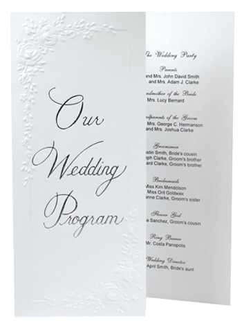 tri fold wedding program templates free koni polycode co