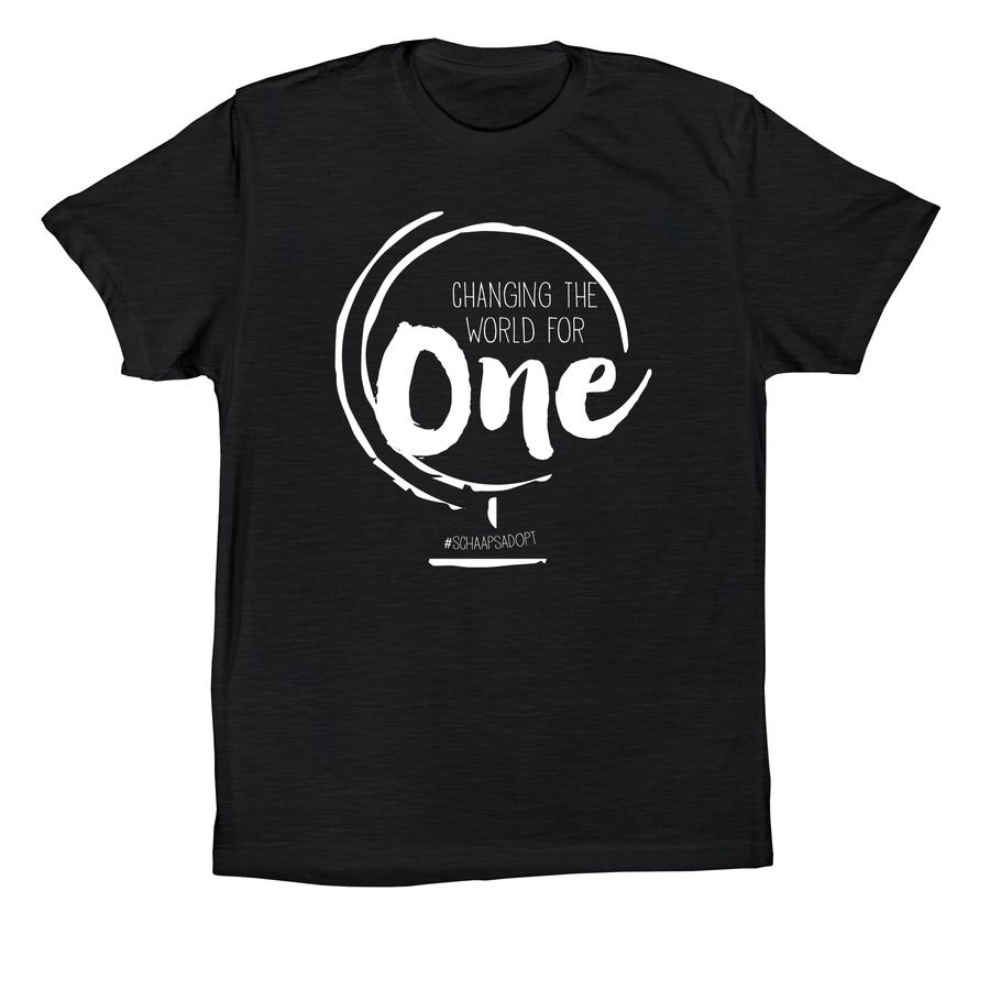 Schaaps Adoption T Shirt Design Change The World For One