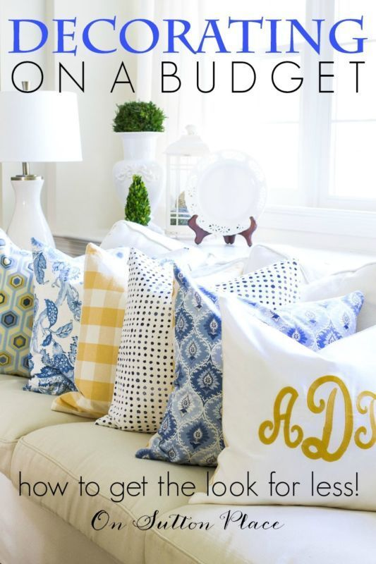 Budget Decorating: 5 More Easy Tips from On Sutton Place | Decorating on a budget can be a challenge...but it can be done and done well. Here are a few things to keep in mind that will help you along the way! (sponsored)