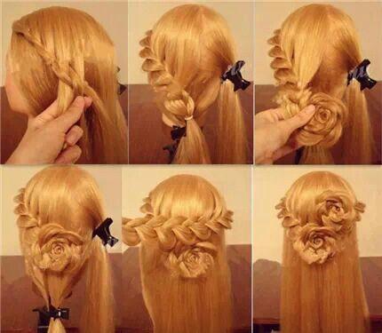 Rose braid hair tutorial | That's Clever! | Pinterest | Rose braid, Braid hair tutorials and ...