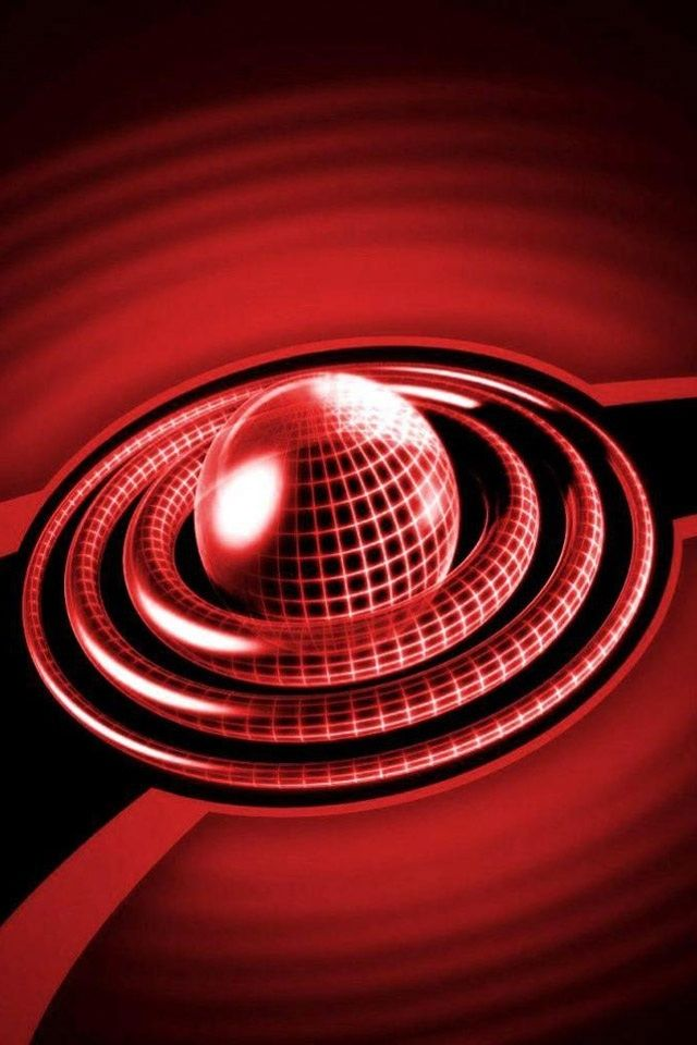Hd 3d Red Ball Circle Iphone 4 Wallpapers Backgrounds Best