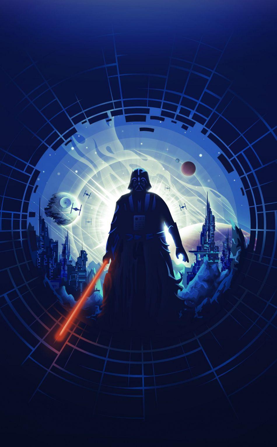 950x1534 Darth Vader, dark, minimal, art wallpaper Star