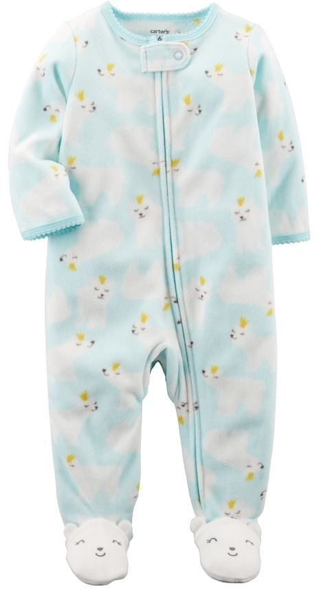 e37df2d91 Carter s Baby Girl Polar Bear One-Piece Footed Pajamas