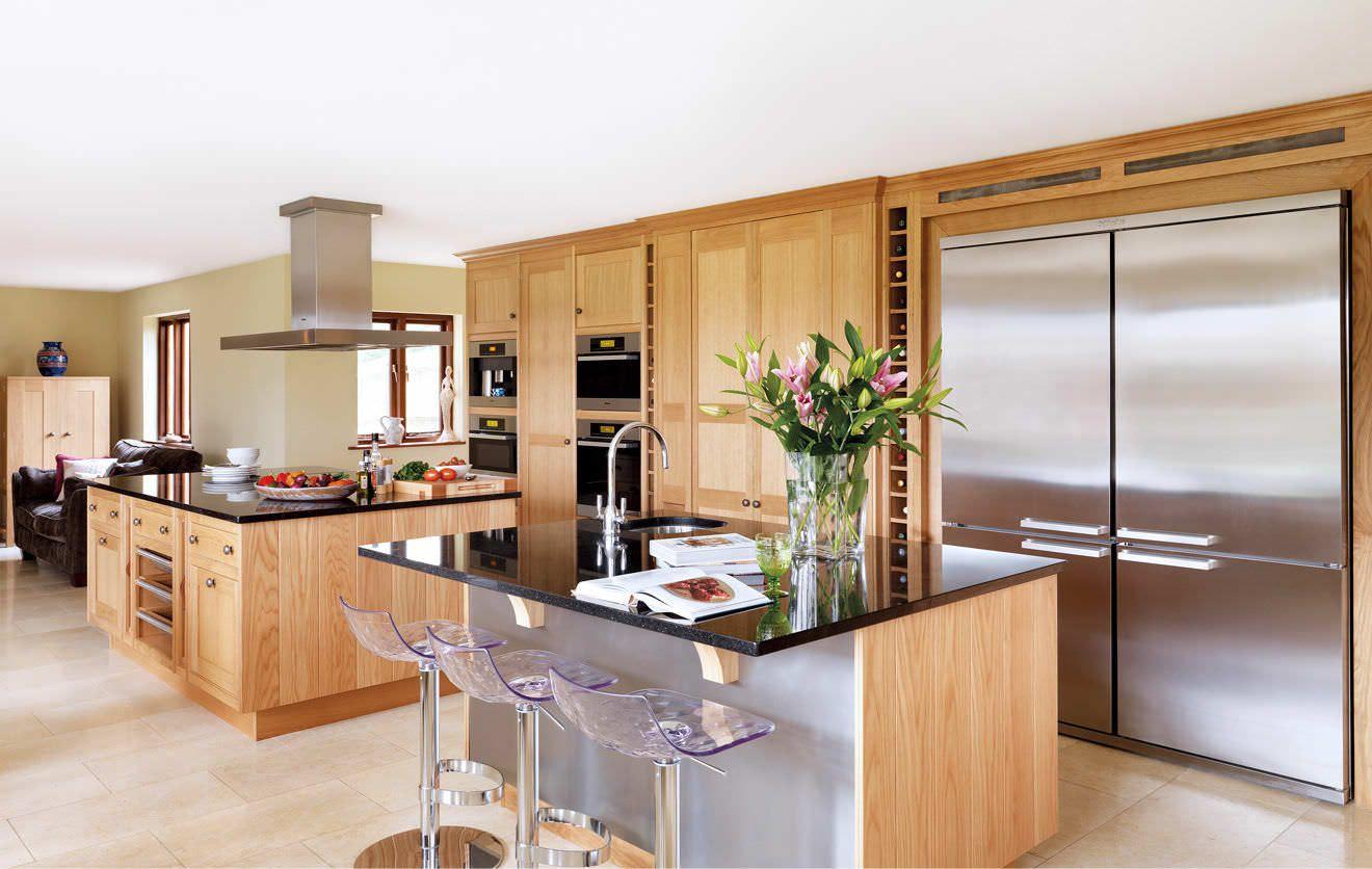 cocina moderna madera con isla | Cocinas con Isla | Pinterest ...