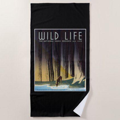 #vintage - #Preserve All Life Beach Towel
